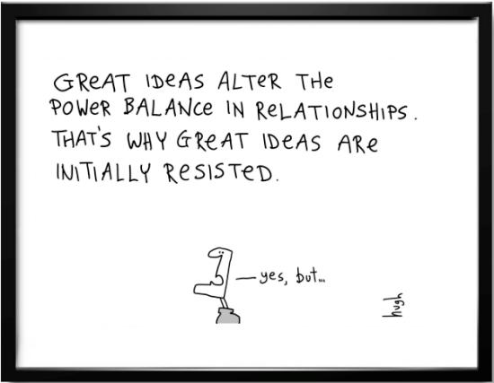Great ideas cartoon by Hugh MacCleod